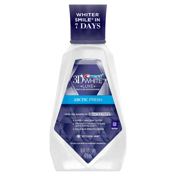 Купить Crest 3D White Luxe Arctic Fresh Multi-Care Whitening Mouthwash Icy Cool Mint Киев, Украина