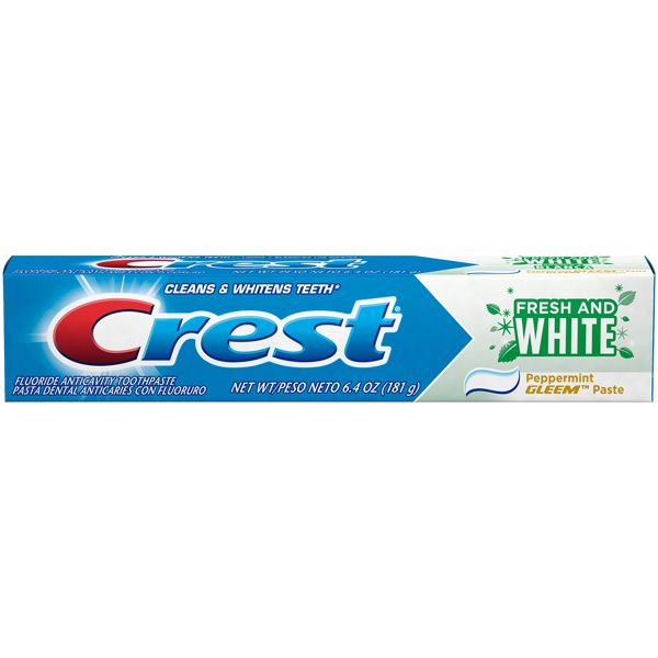 Купить Crest Fresh and White Gleem Fluoride Anticavity Toothpaste Peppermint