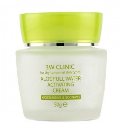 Купить 3W Clinic Aloe Full Water Activating Cream Киев, Украина