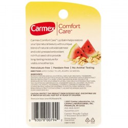 Состав Carmex Comfort Care Colloidal Oatmeal Lip Balm Watermelon Blast Stick