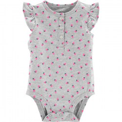 Купить Carter's Strawberry Flutter-Sleeve Collectible Bodysuit Киев, Украина