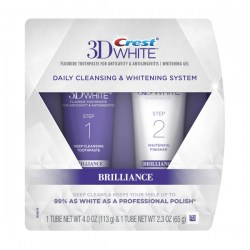 Купить Crest 3D White Brilliance Daily Cleansing Toothpaste and Whitening Gel System