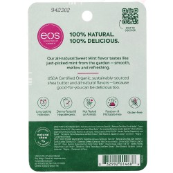 Состав EOS 100% Natural Organic Sweet Mint Shea Lip Balm