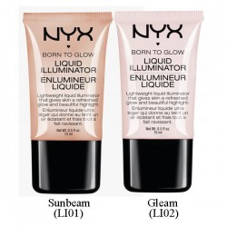 Цвета NYX Born to Glow Liquid Illuminator Киев