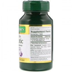 Состав Nature's Bounty Acidophilus Probiotic 100 M