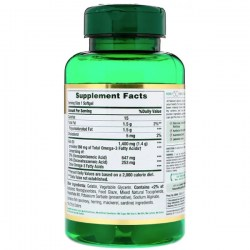 Состав Nature's Bounty Fish Oil 1400 mg. 980 mg.