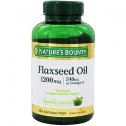 Купить Nature's Bounty Flaxseed Oil 1200 mg + Omega 3 540 mg Киев, Украина