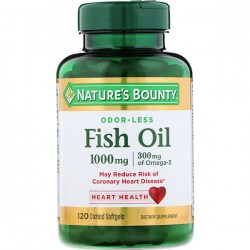 Купить Nature's Bounty Odor-Lees Fish Oil 1000 mg + 300 mg Киев, Украина
