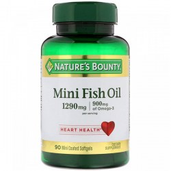 Купить Nature's Bounty Odor-Lees Mini Fish Oil 1290 mg + 900 mg  Киев, Украина