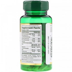 Состав Nature's Bounty Time Released B-Complex with Folic Acid Plus Vitamin C
