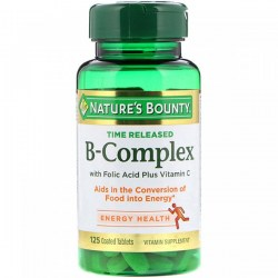 Купить Nature's Bounty Time Released B-Complex with Folic Acid Plus Vitamin C Киев, Украина