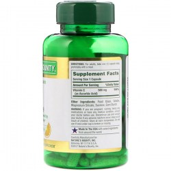 Состав Nature's Bounty Vitamin С 500 mg