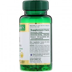 Состав Nature's Bounty Vitamin D3 125 mcg