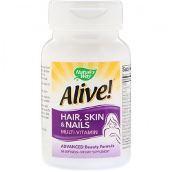 Купить Nature's Way Alive! Hair Skin Nails Multi-Vitamin Strawberry Flavored Киев, Украина