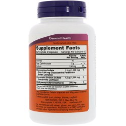 Состав Now Foods Glucosamine Chondroitin with MSM