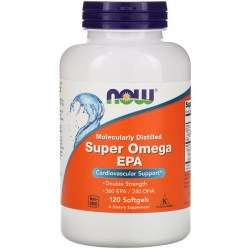 Купить Now Foods Super Omega EPA Molecularly Distilled 2000 mg 120 pcs Киев, Украина