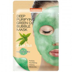 Купить Purederm Deep Purifying Green O2 Bubble Mask Green Tea Киев, Украина