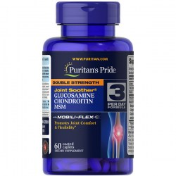 Купить Puritan's Pride Double Strength Glucosamine Chondroitin & MSM Joint Soother Киев, Украина