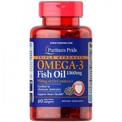 Купить Puritan's Pride Triple Strength Omega-3 Fish Oil Киев, Украина