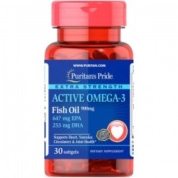Купить Puritan's Pride Extra Strength Active Omega-3 Fish Oil Киев, Украина
