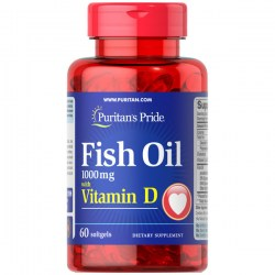 Купить Puritan's Pride Fish Oil with Vitamin D Киев, Украина