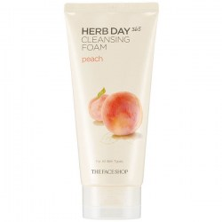 Купить The Face Shop Herb Day 365 Cleansing Foam Peach Киев, Украина